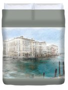 Venice Grand Canal Watercolour Painting Duvet Cover