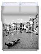 Venice In Black And White Duvet Cover