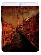 Venice In Golden Sunlight Duvet Cover