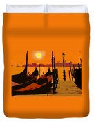 Venice In Orange Duvet Cover
