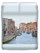 Venice In Pastel  Duvet Cover by Heiko Koehrer-Wagner