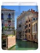 Venice Italy Canal And Lovely Old Houses Duvet Cover