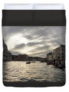 Venice Italy - Pearly Skies On The Grand Canal Duvet Cover