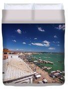 Venice Lagoon Panorama - Bird View Duvet Cover