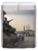 Venice - Monumento Nazionale A Vittorio Emanuele  Duvet Cover