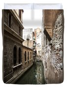 Venice One Way Street Duvet Cover by Milan Mirkovic