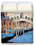 Venice Sunny Rialto Bridge Duvet Cover