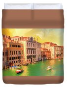 Venice Water Taxis Duvet Cover