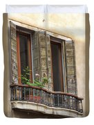 Venice Windows And Shutters Duvet Cover