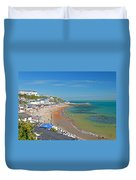 Ventnor Beach And Seafront Duvet Cover
