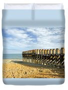 Ventnor Beach Groyne Duvet Cover