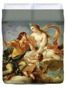 Venus And Adonis  Duvet Cover by Charles Joseph Natoire