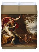 Venus And Adonis With Hounds Duvet Cover