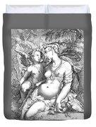 Venus And Cupid Duvet Cover