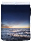 Venus And Jupiter In Conjunction Duvet Cover