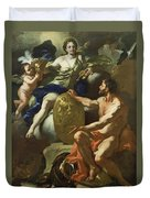 Venus At The Forge Of Vulcan Duvet Cover