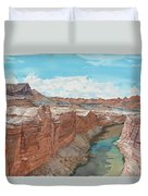Vermilion Cliffs Standing Guard Over The Colorado Duvet Cover