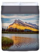 Vermillion Lakes And Mt Rundle II Duvet Cover