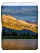Vermillion Lakes And Mt Rundle Duvet Cover