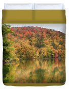 Vermont Fall Foliage Reflected On Pogue Pond Duvet Cover
