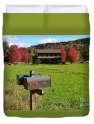 Vermont Farm In Autumn Duvet Cover