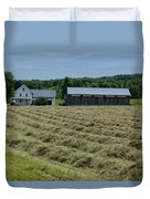 Vermont Farmhouse With Hay Duvet Cover