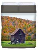 Vermont Garden Shed In Autumn Duvet Cover