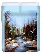 Vermont Stream Duvet Cover