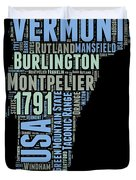 Vermont Word Cloud 1 Duvet Cover