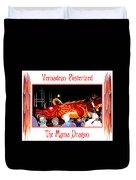Vernadean Posterized - The Mama Dragon Duvet Cover