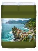 Vernazza, Cinque Terre, Liguria, Italy Duvet Cover