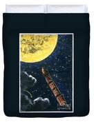 Verne: From Earth To Moon Duvet Cover