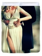 Veronica Carlson And Peter Cushing Duvet Cover