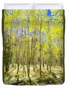 Vertical Aspen Forest Duvet Cover