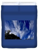 Vertical Clouds Duvet Cover