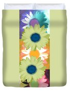 Vertical Daisy Collage II Duvet Cover