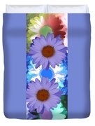 Vertical Daisy Collage Duvet Cover