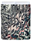 Vertical Graphic Layers Duvet Cover