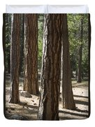 Vertical Of A Stand Of Ponderosa Pine Duvet Cover