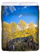 Vertical Shot Of Meagher's Cabin Duvet Cover