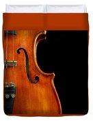 Vertical Violin Art Duvet Cover