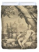 Vertumnus And Pomona Duvet Cover