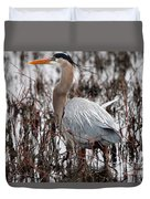 Very Handsome Heron  2845 Duvet Cover