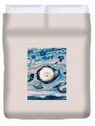 Occator On Ceres In My Eyes Duvet Cover