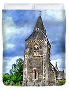 Very Old Church Duvet Cover