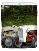 Very Old Ford Tractors Duvet Cover