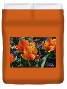 Very Pretty Colorful Yellow And Red Striped Tulip Duvet Cover