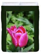 Very Pretty Dark Pink Tulip Flower Blossom Duvet Cover