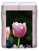 Very Pretty Pale Pink Tulip Blossom In Spring Duvet Cover