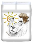 Very Sad Lion, Cry For Africa Duvet Cover